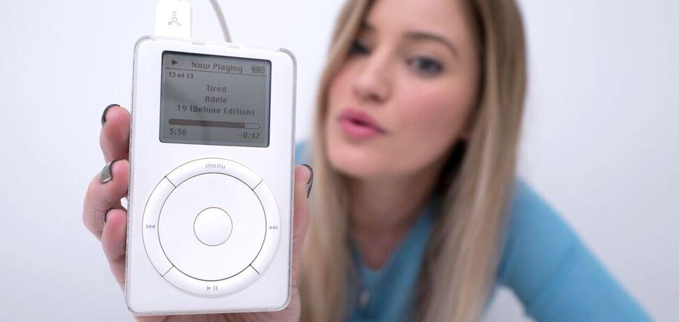 Объем диска первого iPod составлял пять гигабайтов