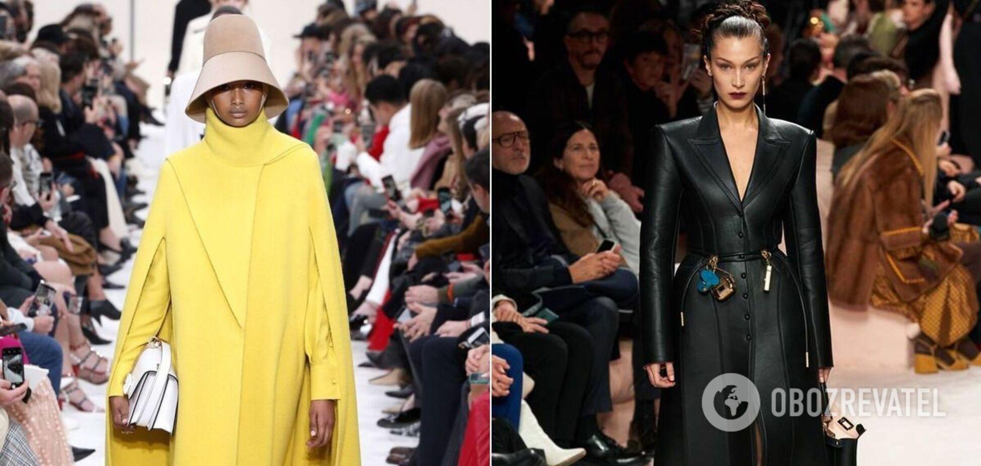 Накидка и кожаное пальто стали трендом осени 2020