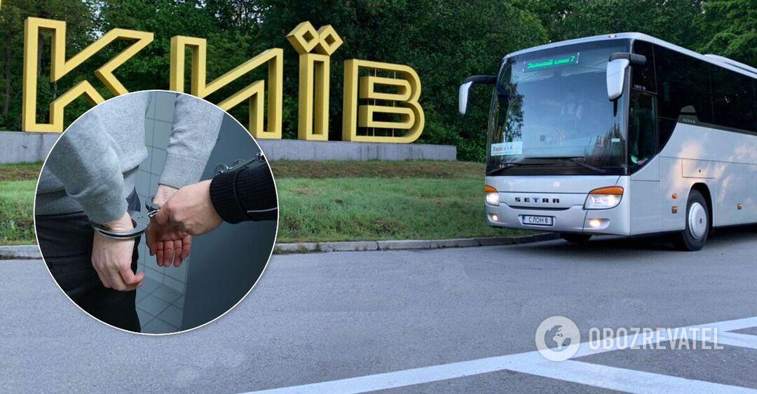 В Киеве пьяный напал с ножом на пассажиров автобуса: есть раненые