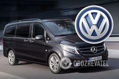 На полицейский Mercedes внезапно повесили логотип Volkswagen