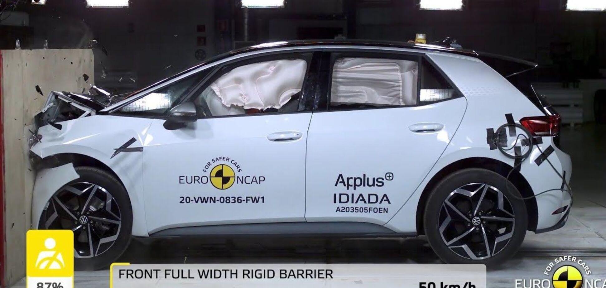 Новый электромобиль VW превратили в 'биток': что показало столкновение