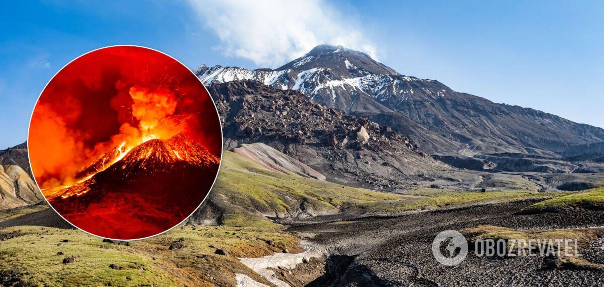 Безымянный вулкан на Камчатке