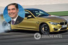 Президент Туркменистана показал мастер-класс по дрифту на BMW M4