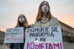 Протест против усиления законодательства об абортах в Польше