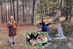 Бабкин, Шоптенко и Горбунов с Осадчей: как украинские звезды собирали грибы