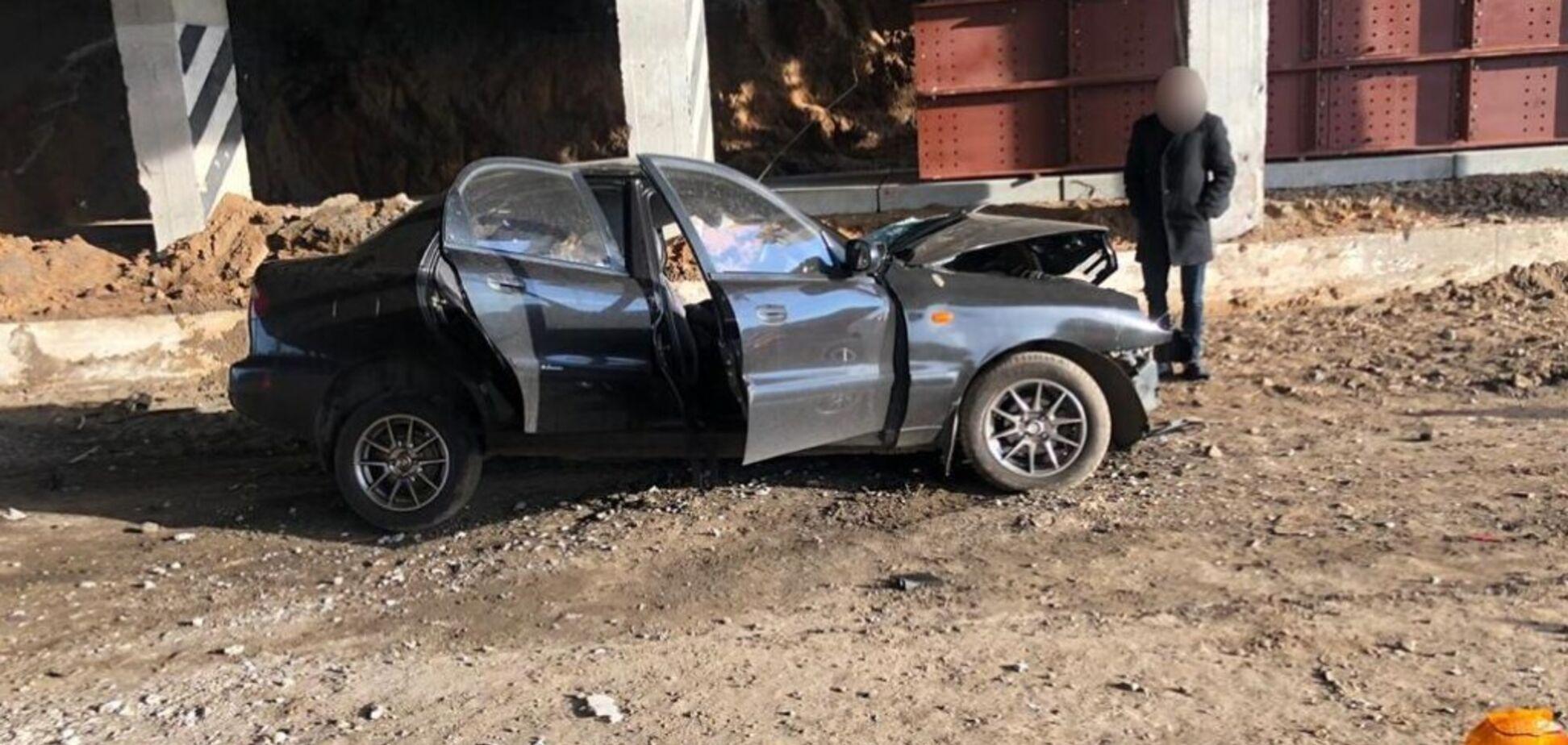 Фото з місця аварії під Харковом, де загинули полковник ДСНС і його донька