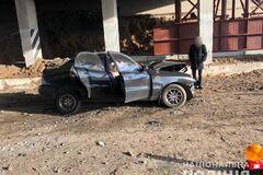 Фото с места аварии под Харьковом, где погибли полковник ГСЧС и его дочь