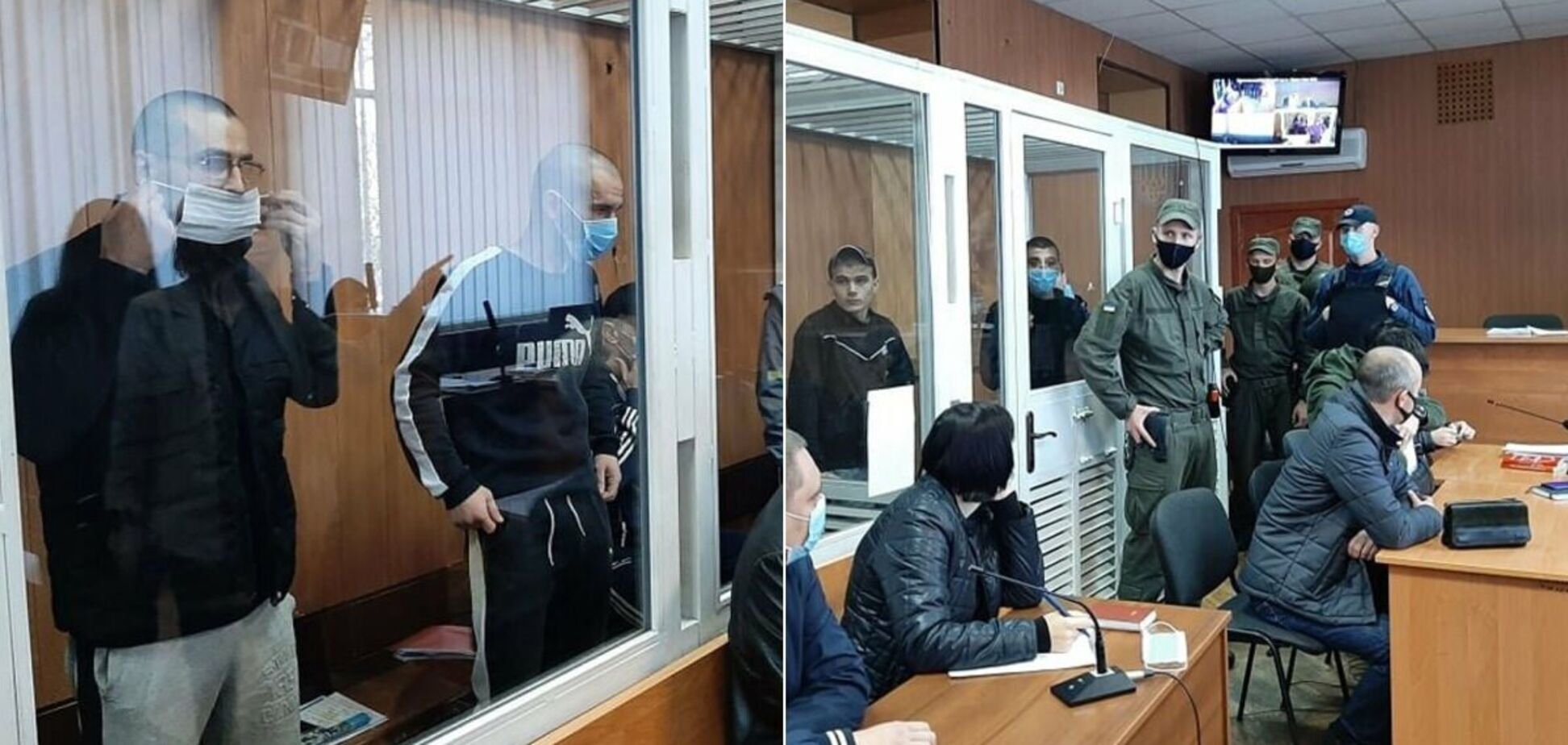 В суде семеро обвиняемых вскрыли себе вены