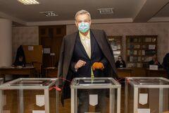 Андрей Пальчевский проголосовал на выборах мэра Киева