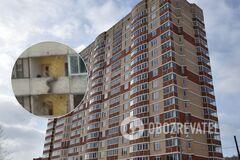 В Киеве женщина пыталась выпрыгнуть из окна многоэтажки. Видео 18+