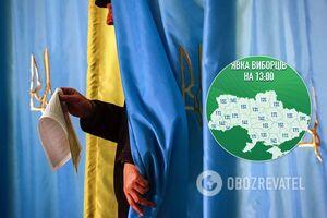 Явка на местных выборах в Украине