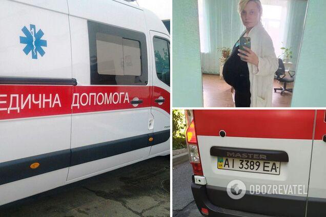 Вагітну підкидало на носилках і било в живіт. Подробиці скандалу зі швидкою на Київщині