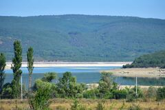 Чернореченское водохранилище обмелело