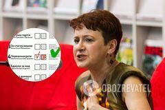 Оксана Забужко нашла отголосок СССР и России в бюллетенях на местных выборах
