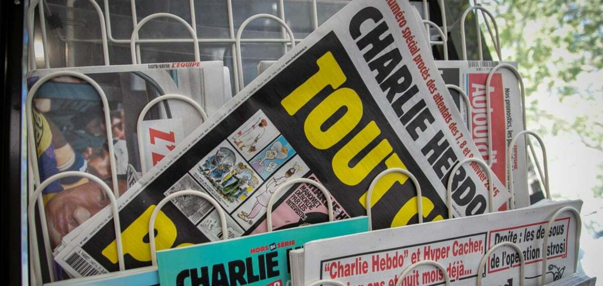 Charlie Hebdo разместил карикатуру на Эрдогана