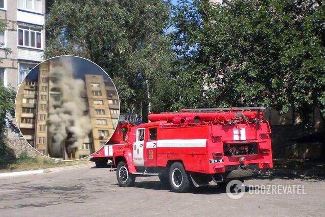 У Києві загорілася багатоповерхівка. Перші кадри