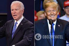 Республиканскую партию на выборах в США представляетДональд Трамп,Демократическую – Джо Байден