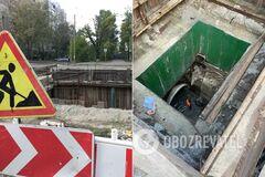 В Киеве произошла авария в коллекторе