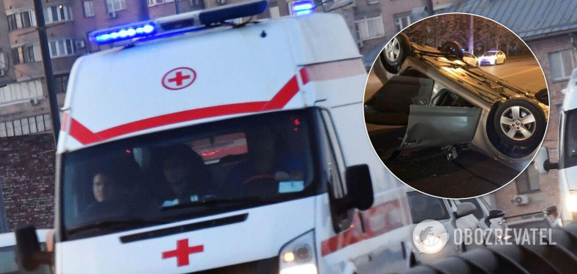 В Кривом Роге пьяный священник протаранил авто с ребенком. Фото