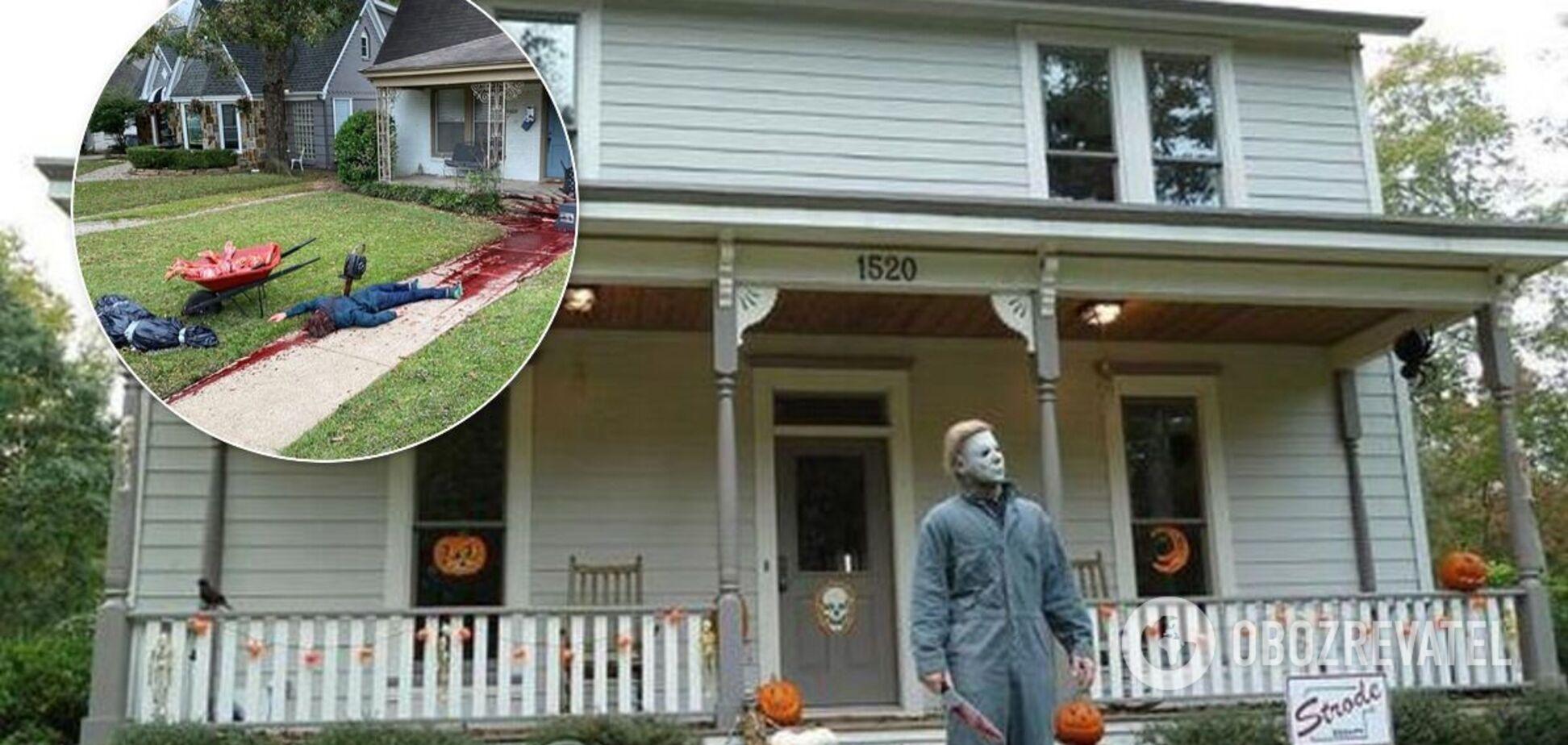 Стивен Новак украсил 'трупами' свой участок на Хэллоуин