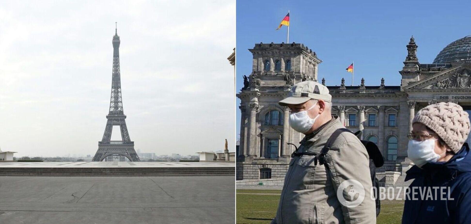 Німеччина і Франція ввели жорсткий карантин