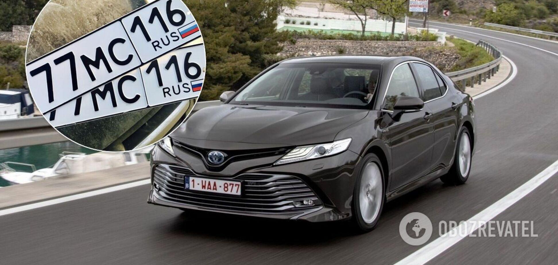 В Киеве засняли Toyota Camry с загадочными номерными знаками