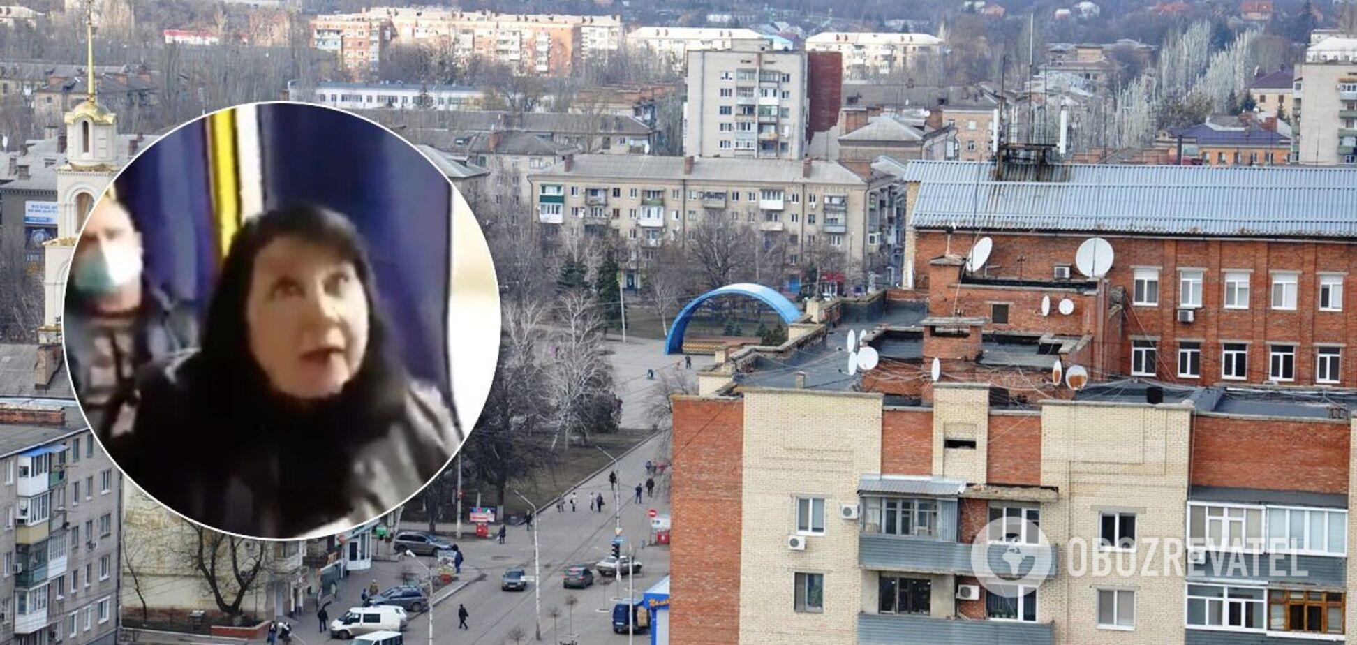 Скандалисткой из маршрутки Славянска оказалась кандидат в депутаты Валентина Павлова