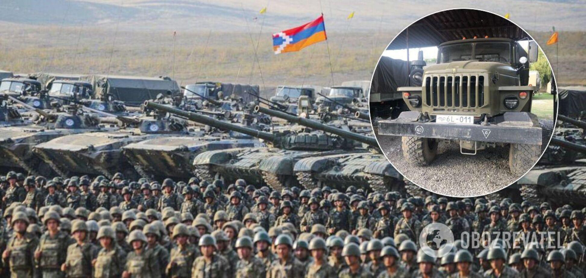 В непризнанном Нагорном Карабахе использовали военную технику из РФ