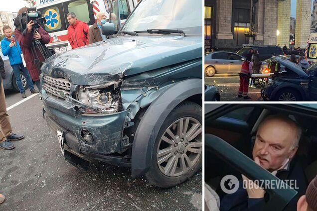 Авария на Майдане Независимости 30 октября