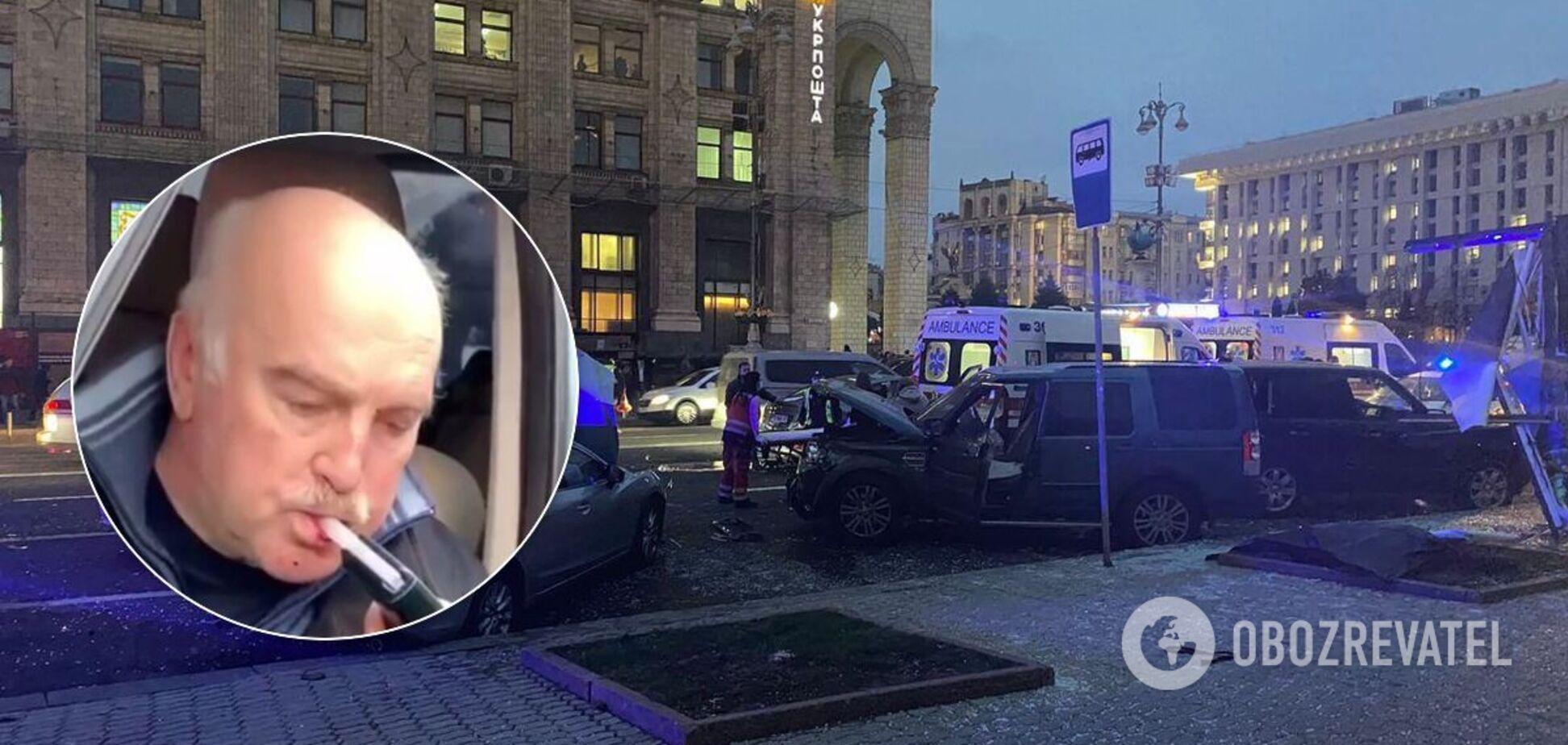 Виновника ДТП на Майдане проверили на драгере