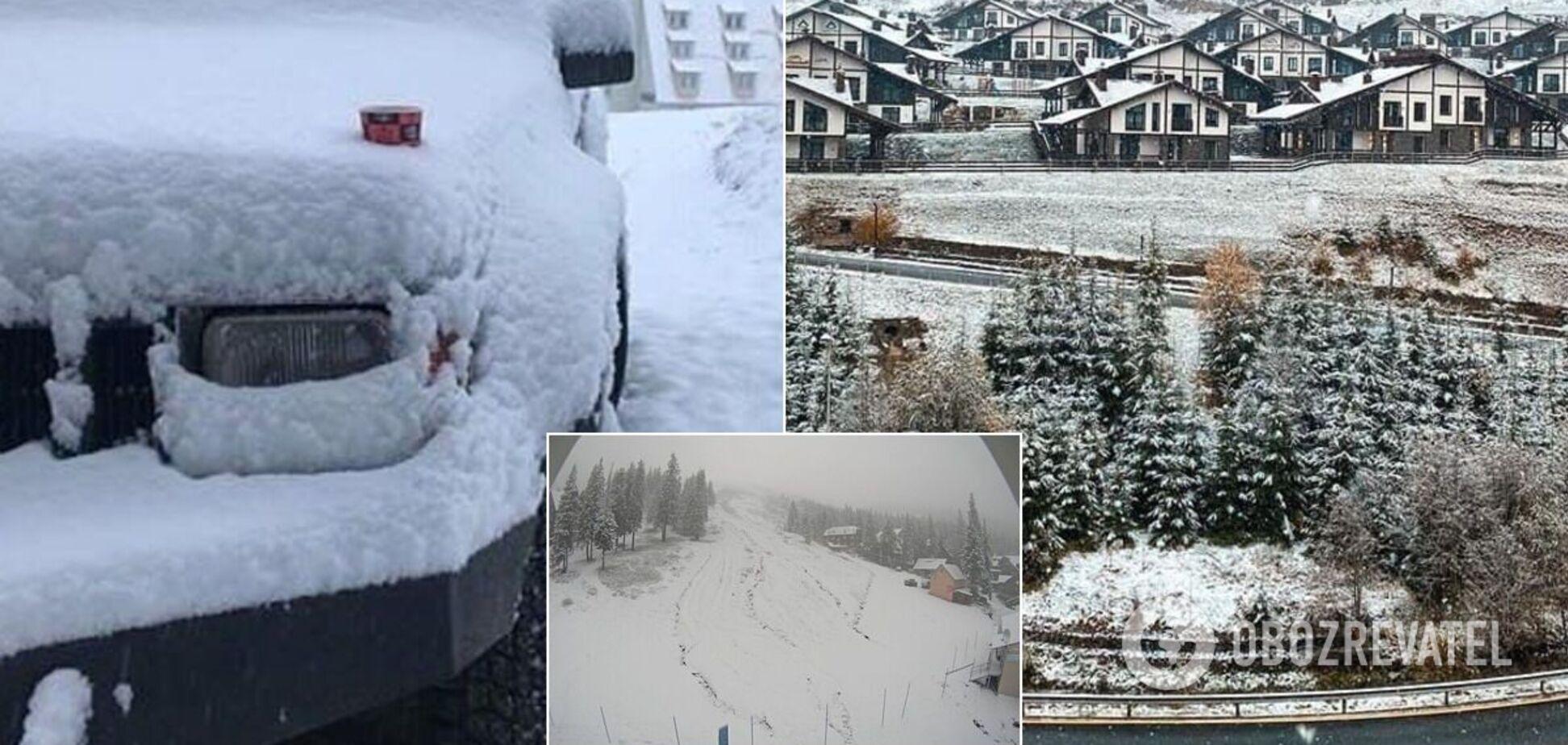 Українські Карпати засипало снігом