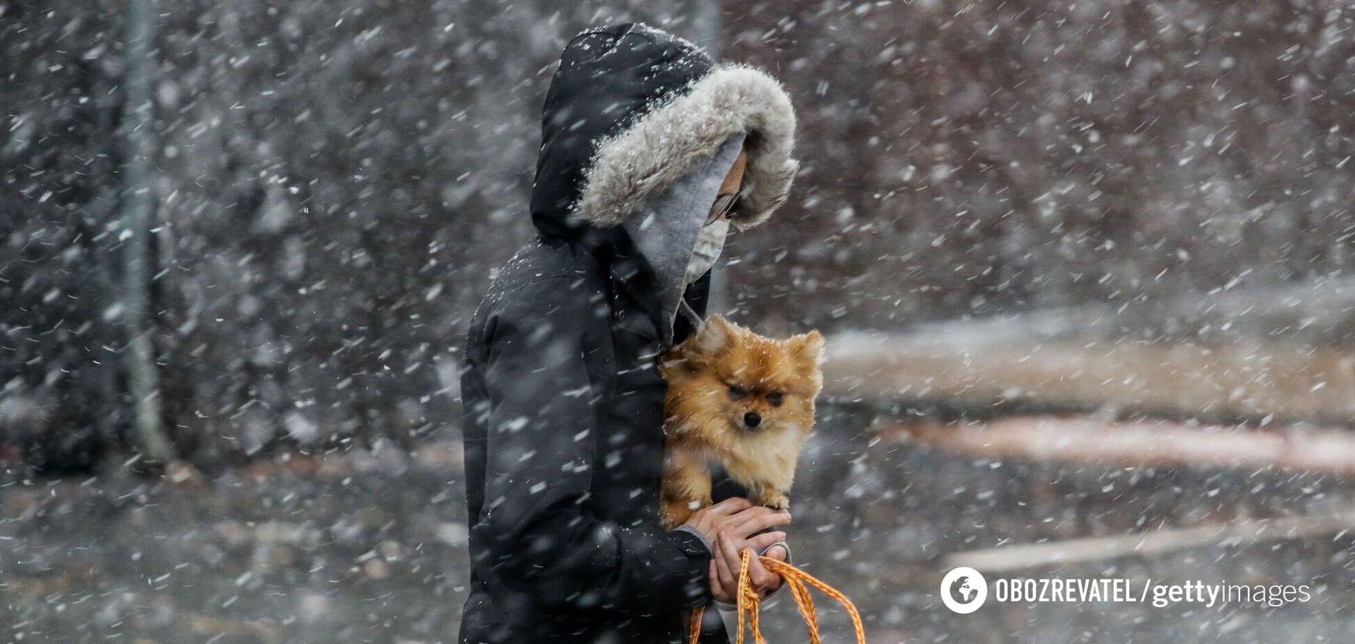 Прогноз погоды на первый месяц зимы в Украине