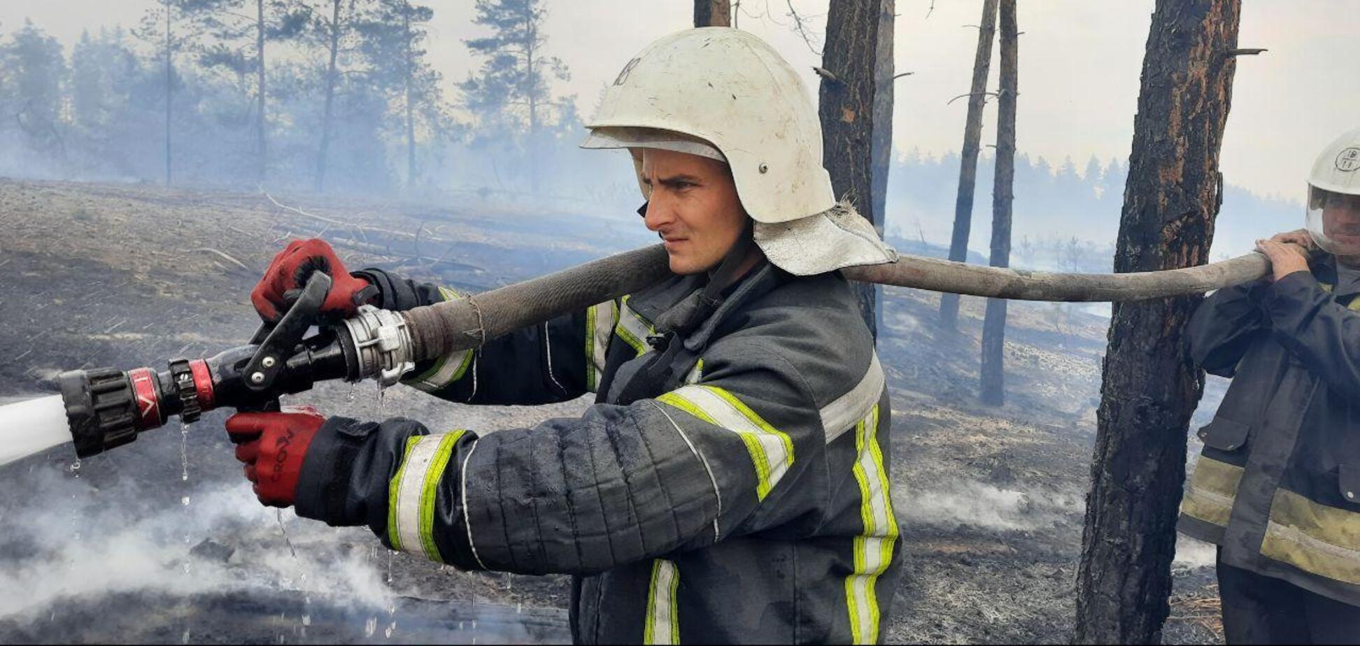 Пожежі на Луганщині почали відступати, рятувальники назвали масштаби катастрофи
