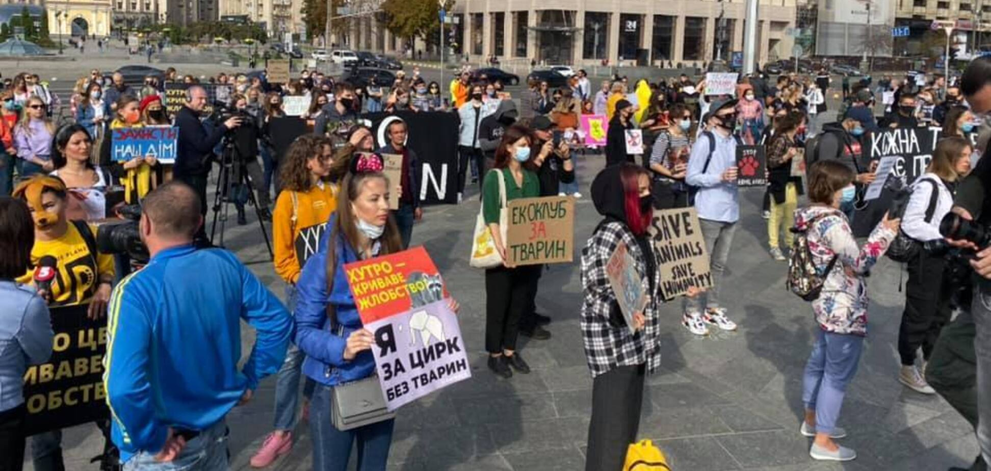 На Майдане Независимости прошла акция 'Стань на защиту животных!'