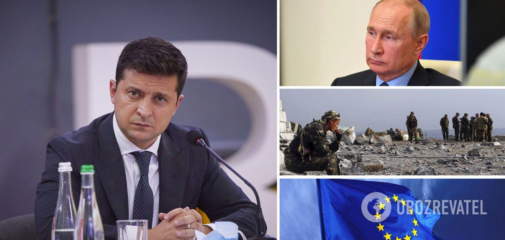 Зеленский дал интервью о Путине, Донбассе и ЕС: главные заявления