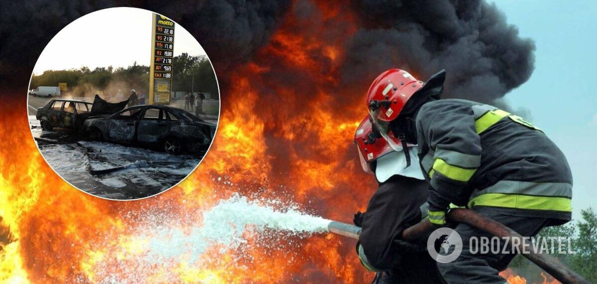 На Днепропетровщине водитель авто сгорел заживо после ДТП. Фото