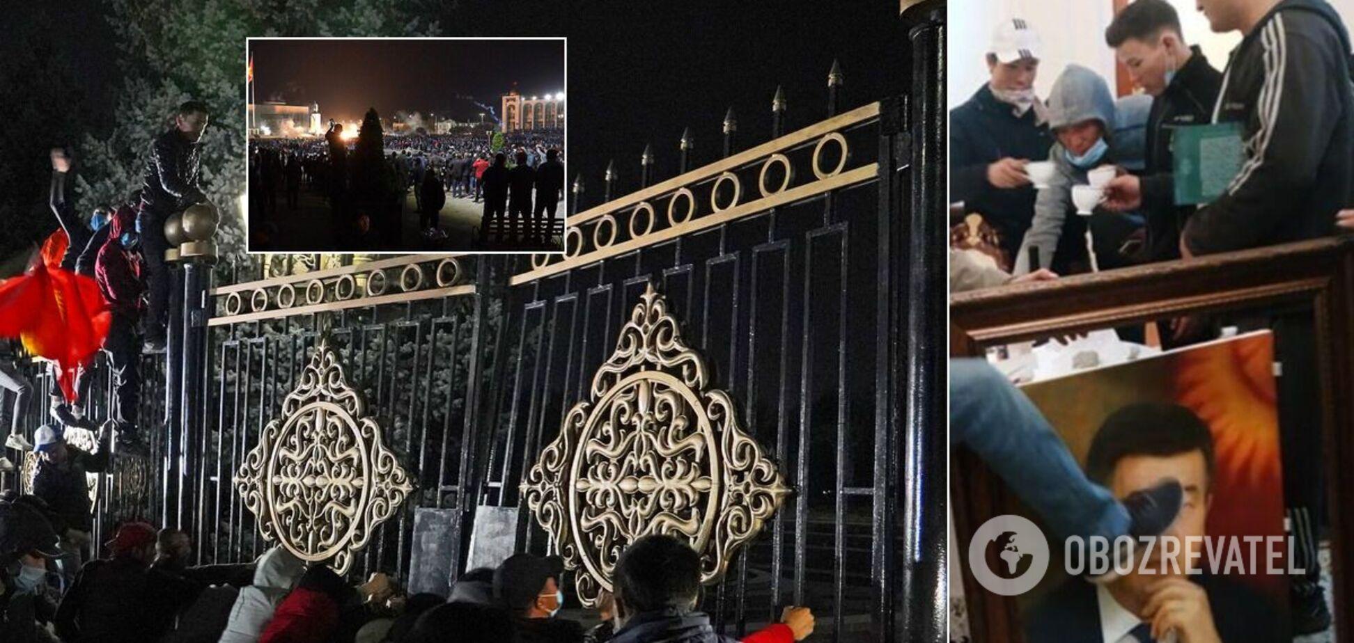 У Бішкеку мітингувальники увірвалися в парламент