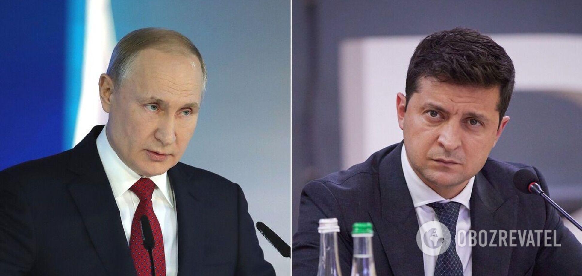 Володимир Путін і Володимир Зеленський