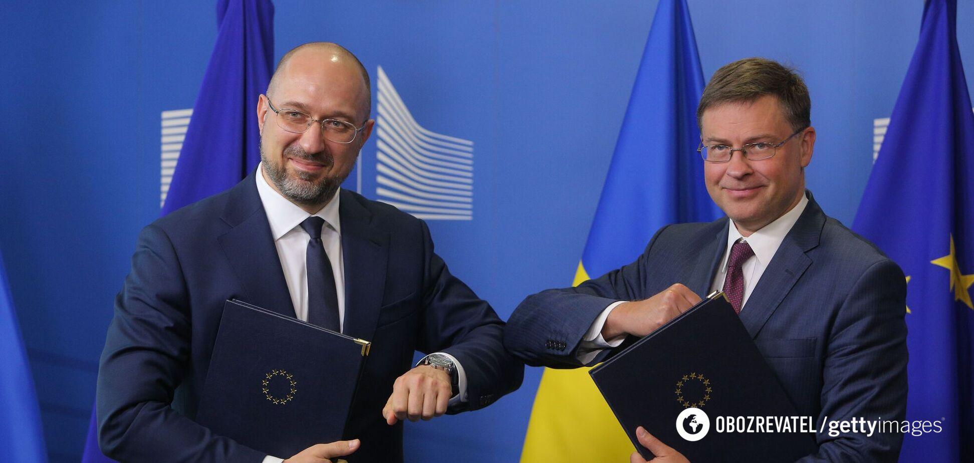 Київ підписав з ЄС низку угод