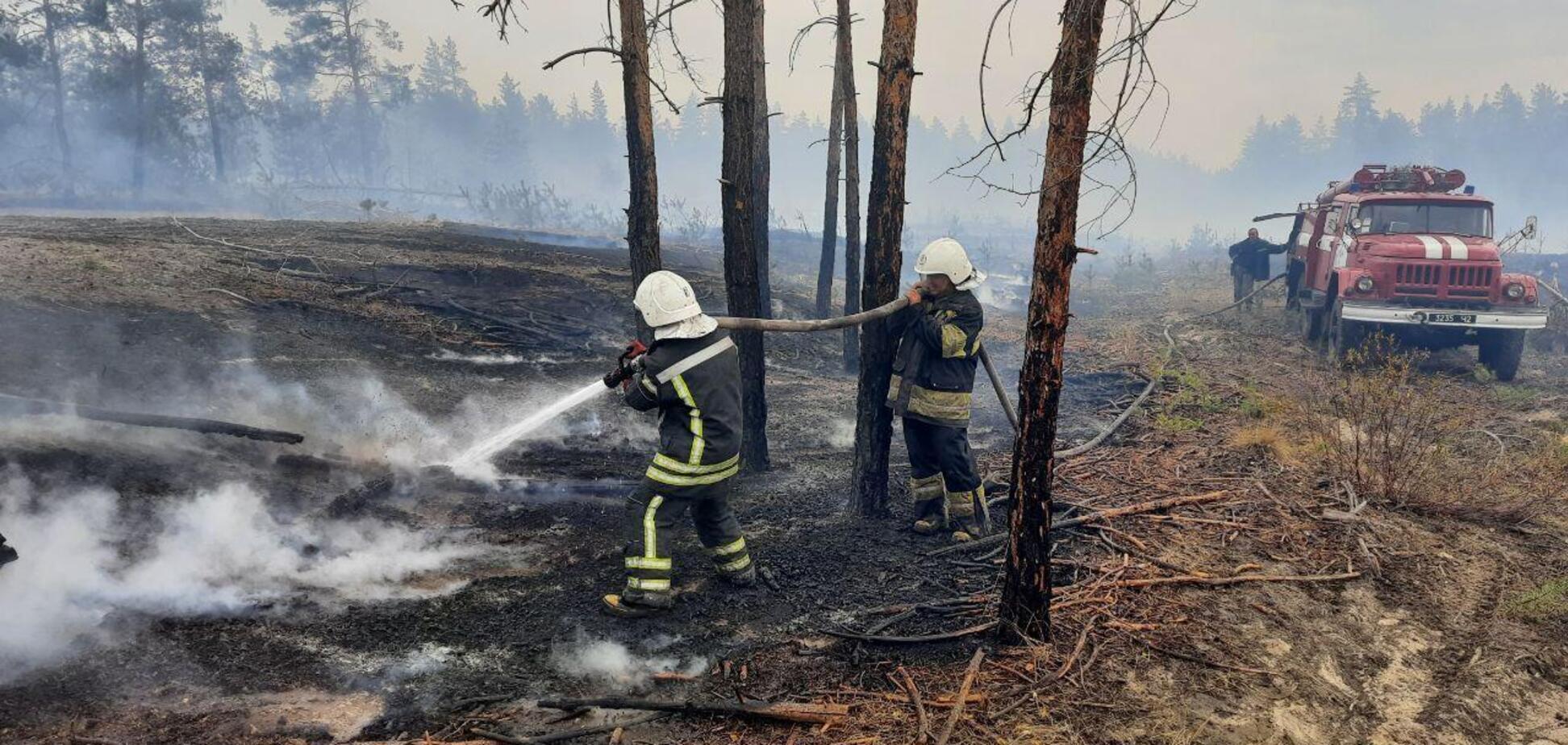 Пожары в Луганской области не могли вовремя потушить