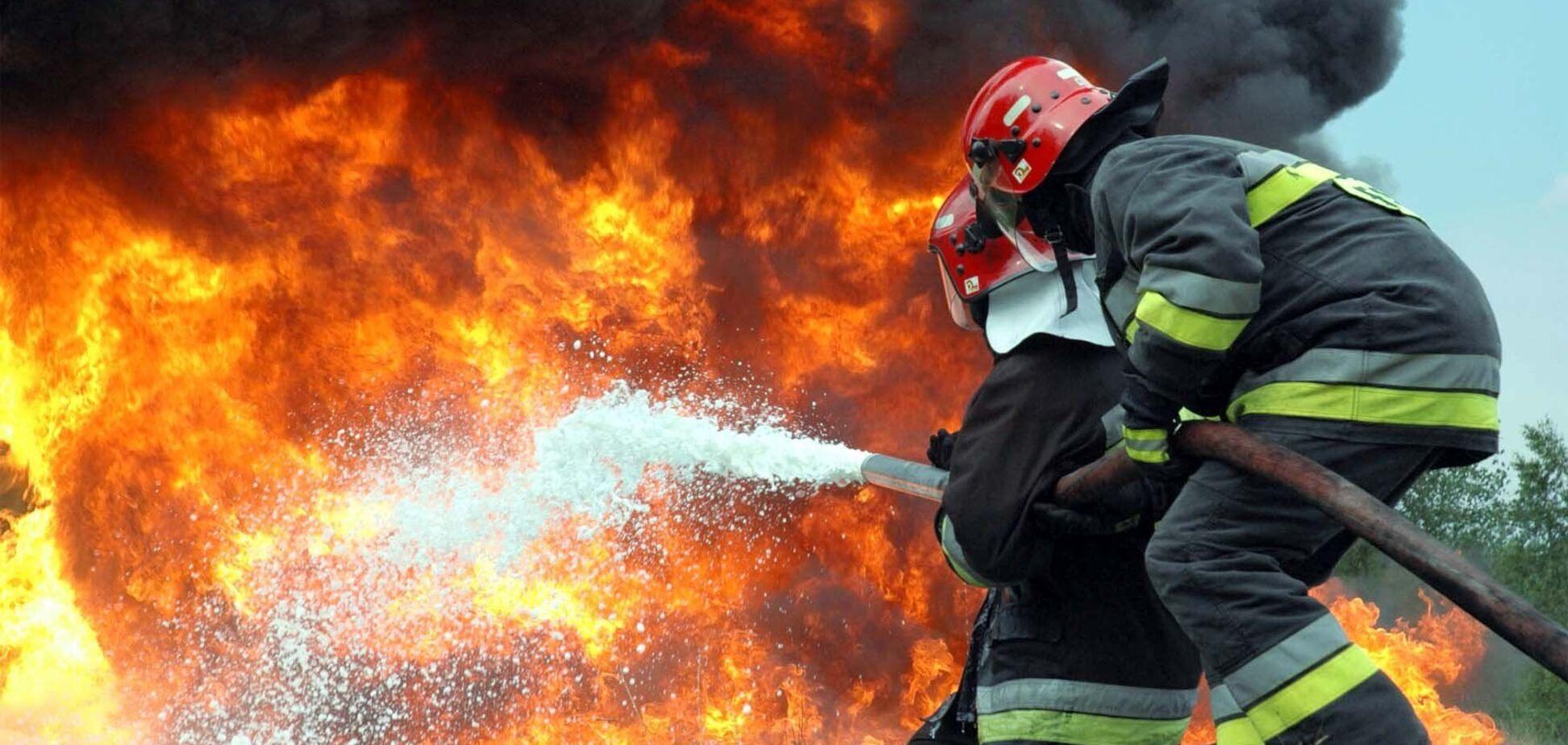 В Харькове вспыхнул пожар