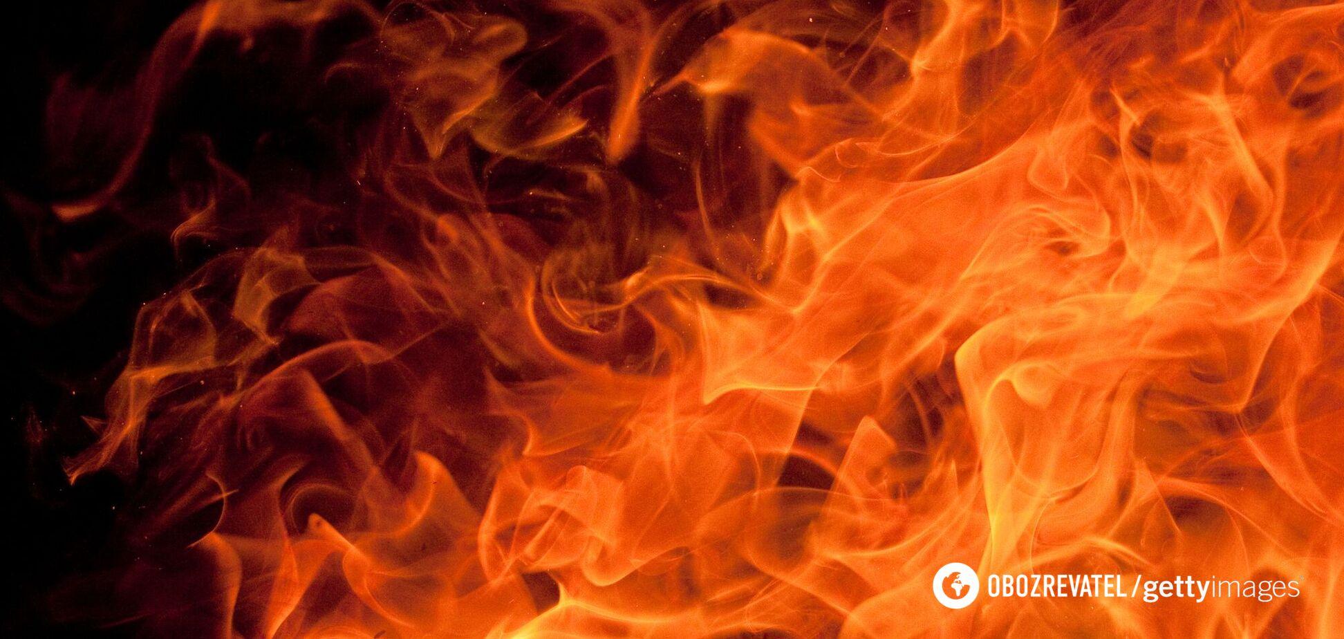 В Киеве маршрутка загорелась во время движения