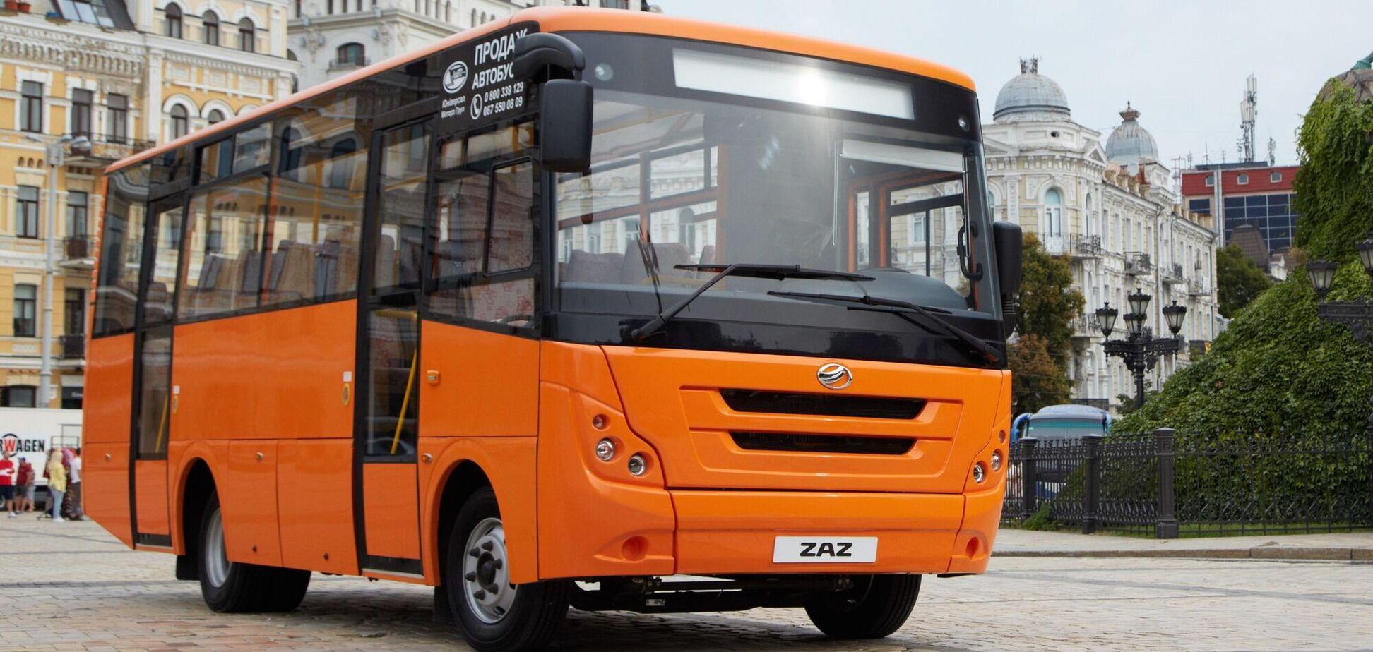 Запорожский автозавод презентовал новый пригородный автобус ЗАЗ А-08