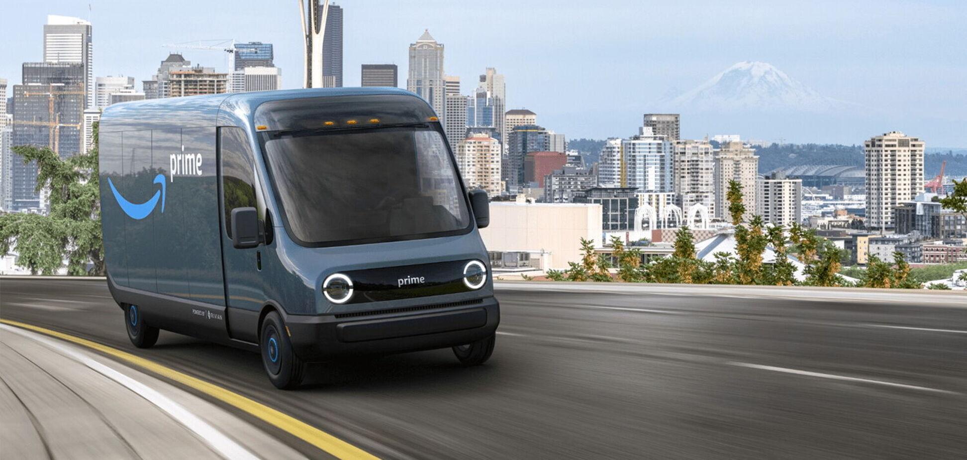 Amazon представив перший електричний фургон від Rivian