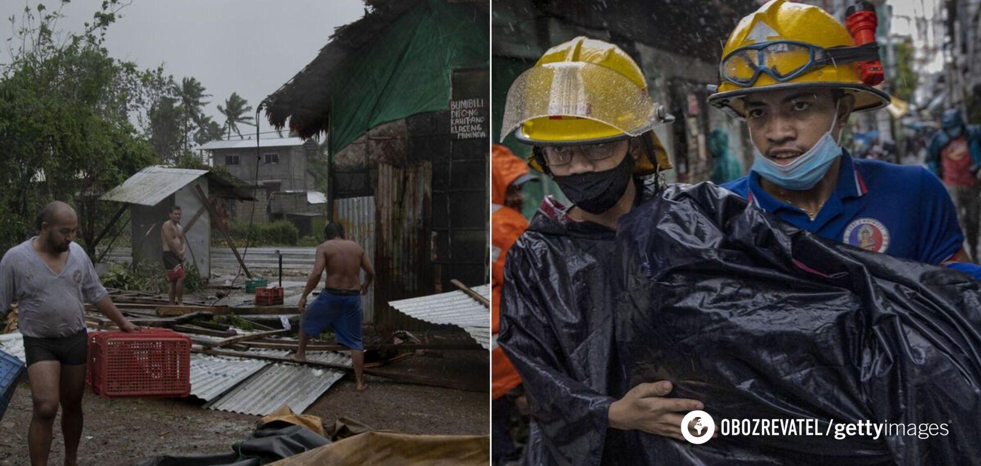 В результаті тайфуну на Філіппінах загинуло 10 осіб