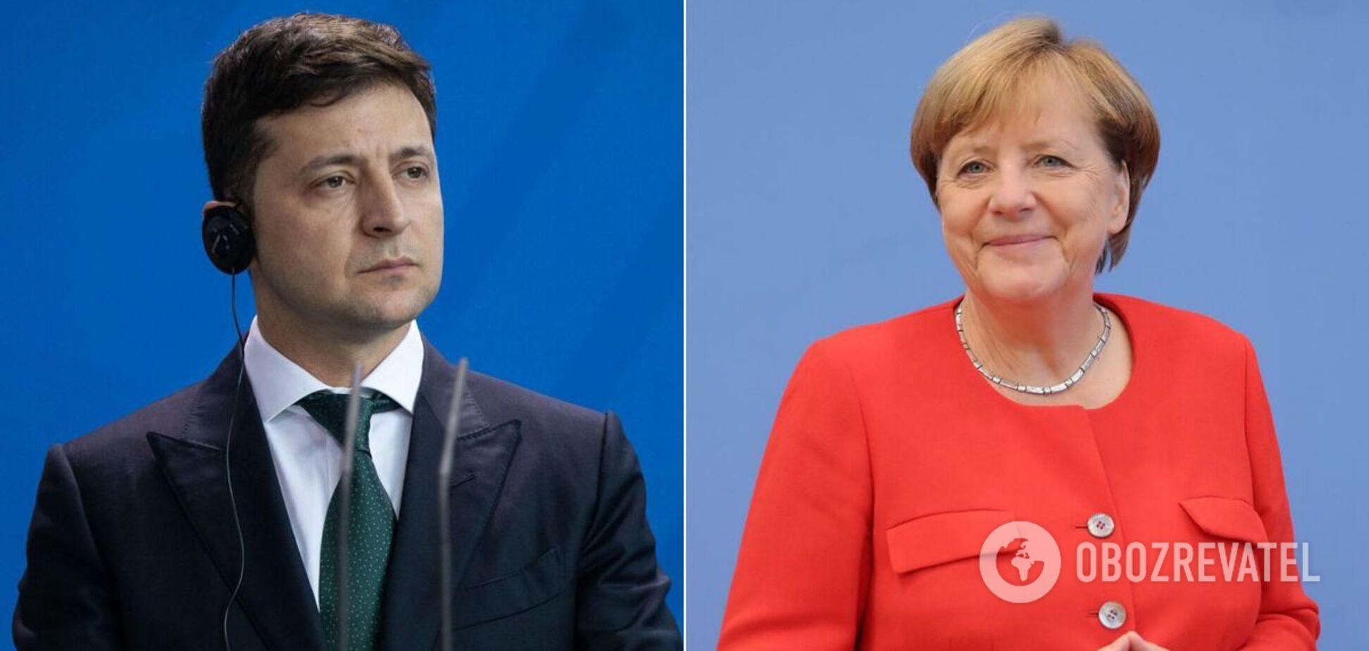 Володимир Зеленський і Ангела Меркель