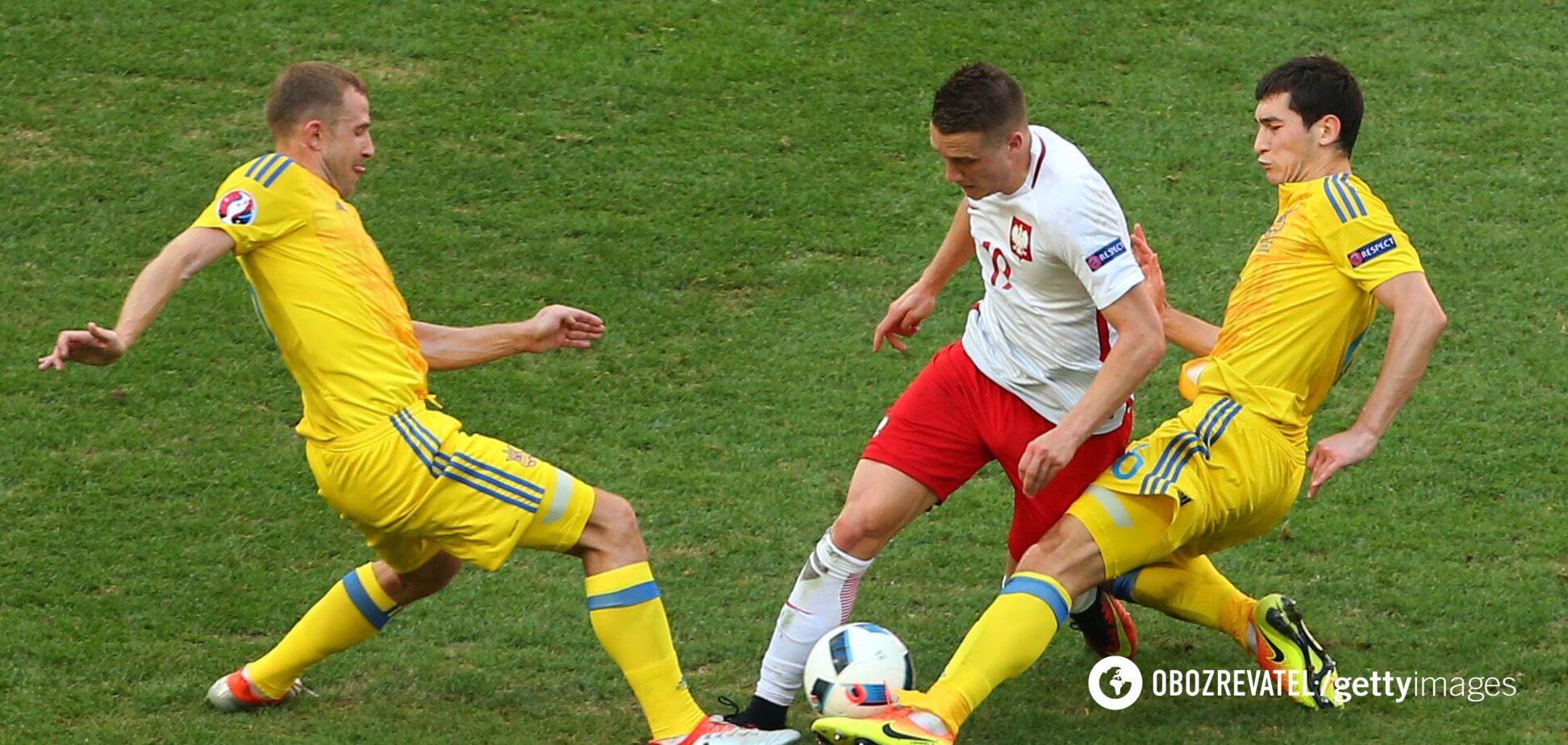 Україна проти Польщі на Євро-2016