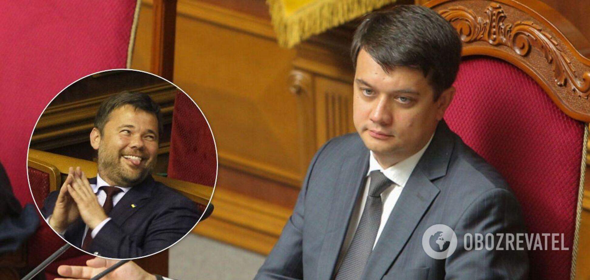 Богдан пожартував над Разумковим