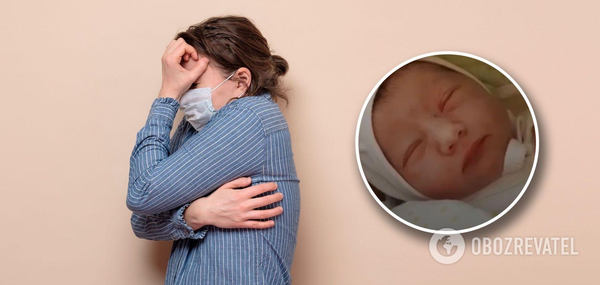 В Черкассах женщине пришлось рожать по дверями больницы