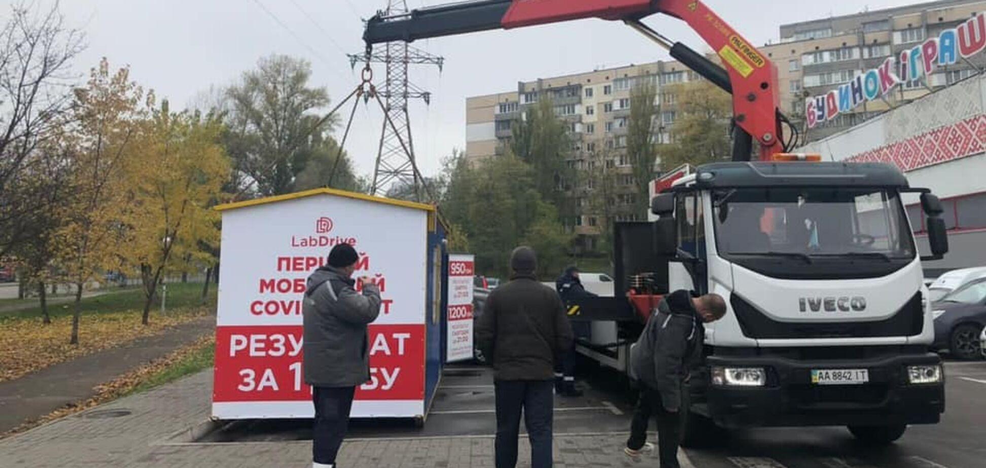 Незаконную постройку в Киеве демонтировали